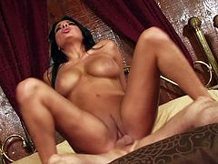 Anissa Kate is a sexy bodied black haired porn diva with huge titties and nice ass. She shows her assets as she bounces on cock. Watch big breasted prisoner ride stiff dick like crazy!