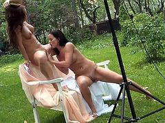 Mind blowing babes are here and waiting for your attention. They prepared for you unforgettable backstage sex video. Watch seductive lesbos right here and right now.