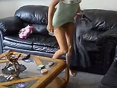 Hacked Laptop view - girl masturbating on couch