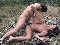 Check out this horny latino grandma fucking around with a younger dude. After sucking on his stiff dick she opens her legs wide to show her hairy muff and got it stuffed hard!