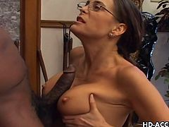 This sexy blonde MILF is in great shape. Her man thinks so too as he strips her, fucks her and then gives her ass hole a deep anal workout as she screams with pleasure.