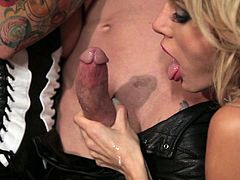 This video has a hot MILF in black leather as she has a great threesome fuck session. There is some hardcore nastiness going on here and it's great.