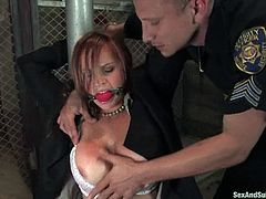 These two smoking hot babes are detained for prostitution. So officer Pete offers them a deal. He bangs them in BDSM and releases them immediately!
