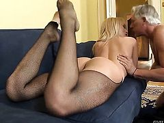 Aleska Diamond enjoys another anal sex session with Christoph Clark before she takes it in her mouth