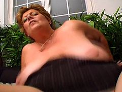 Porner Premium brings you a hell of a free porn video where you can see how a nasty bbw mature gets pounded by a young stud while he plays with her big round tits.