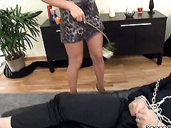 Angel Rivas gets her mouth fucked silly by sex crazed Omar Galanti after she gets assfucked