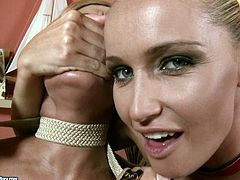This horny chick is ready to do anything to get her wet pussy pleased and fucked.Watch her seducing her girl friend in front of her boyfriend in 21 Sextury sex clips.
