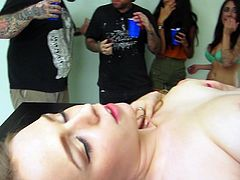 Watch this hot babe getting her wet and tightpussy finger drilled and toungue fucked at the party with other chicks and guys in Mofos Network sex clips.