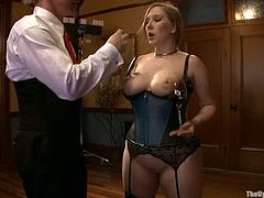 These video is so weird. You will see busty blonde girls sucking dicks and showing their titties. In addition you will see a bald guy getting fisted very deep.