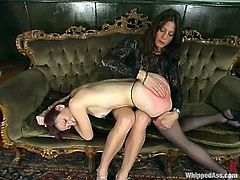This is exactly what is happening in here! Two desirable and gorgeous chicks are going to enjoy some spanking and some strapon fucking!