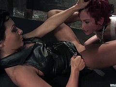 And this is a damn challenge for Rozen Debowe! She is a sex slave of Sandra Romain, who has some ridiculous BDSM fantasies.