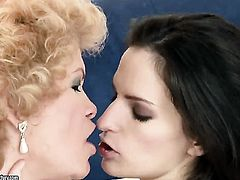 Brunette with huge knockers gets treated like a fuck toy by horny lesbian Ann Marie La Sante