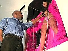 Porner Premium brings you an amazing free porn video where you can see how a sensual Asian brunette in pink fishnets gets drilled very hard into kingdom come.