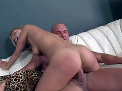 Cute blonde girl with nice natural boobies gets heavily fucked by her friends horny daddy. He drills her young wet vagina and then sticks his throbbing cock in her incredibly tight asshole.