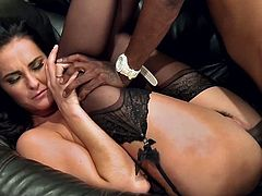Magnificent Bianca Breeze lifts her dress up and gets the pussy licked. Then she sucks big black cock and gets fucked like never before. This beauty also gets her face cum covered.