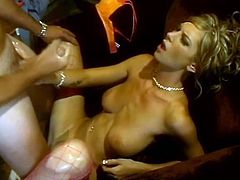 She moans sensually as her man eats and fingers her pussy. Then she goes down and sucks his rod before the pussy slamming begins.