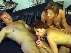 Alluring ladies are horny and eager to play nasty in this rough threesome