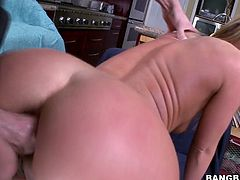 Watch this hot and sexy blondie Sheena Shaw getting her tight butthole penetrated by her friend's large cock in Bang Bros Network sex clips.