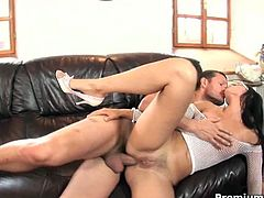 See the alluring Italian brunette bitch Claudia Rossi as she sucks her man's cock before her pussy is rammed balls deep into a mind-blowing orgasm. Then it's time for her ass to be banged equally hard!