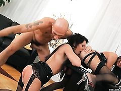 Exotic Monika B asks Omar Galanti to drill her sweet mouth after she gets fucked in her anal hole