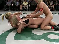 Dia Zerva, Jessie Cox, Tara Lynn Foxx and Vendetta struggle with each other furiously and don't lose a good chance to touch one another's hot pussies.