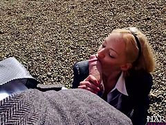 This nineteen year old horny babe loves to have sex with older guys.Watch her suck that large cock of some old jerk right outside her college in Harmony Vision sex clips.
