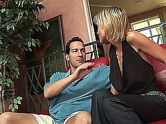 Jordan's pussy was hungering for cum and she found just the right boy toy to give her a creampie filling, a handsome stud with a sturdy rod with great veins that rubbed her pussy the right way and gave her orgasms on the way to cumming inside her.