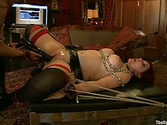 Nerine Mechanique and Krysta Kaos get bound and tormented in a cool BDSM scene. They demonstrate their amazing holes and get them stunningly toyed and fisted.