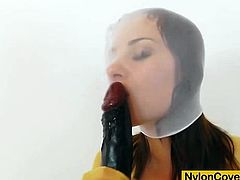 This time we please the nylon and hose lovers in addition to Winnie, the juicy brunette babe, who blows than rides a huge dark pantyhose in the video.