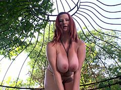 Lustful woman with curvy body demonstrates her juicy jugs in exciting solo masturbation vid. She squeezes her boobs. Later on she slides smooth sex toy into wet slit.