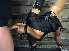 Mark Davis pleases Mia Bangg with some fierce banging in BDSm clip