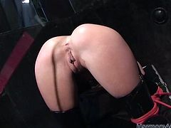 You are welcome here to be pleased with sextractive busty and booty chicks. They ties up one kinky dude and jerks off his cock intensively.