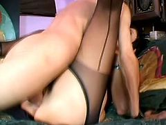 Slutty brunette milf Isabella Rossa is playing dirty games with some guy indoors. She favours him with a stunning blowjob and then they fuck in missionary, cowgirl and other positions.