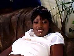Salacious black milf Leyah Jackson moves her legs wide apart and plays with her snatch. Then Leyah gives a blowjob to her BF and gets her twat drilled doggy style.