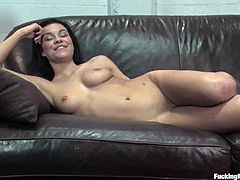 Watch the hot brunette Ruby Knox doing all she can to orgasm multiple times when she masturbates with vibrator and gets fucked by diverse machines.