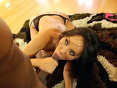Katsumi is an incredibly hot Asian babe who loves anal. This guy's big black cock satisfies her needs.
