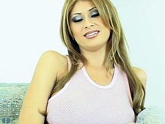We tell you that she won't get naked and won't get fucked at all! But her presence is already hot! The way she smiles and her sexy voice makes your cock get harder!