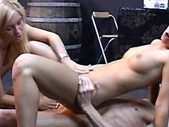 Horny gals are having the best ffm ever by fucking their holes like crazy sluts