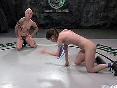 Nasty Syd Blakovich punishes Amber Rayne for her rashness. Amber loses a fight for obvious reasons and then gets her pussy destroyed with a strap-on.