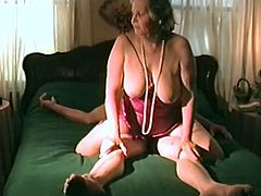 Check out this hot clip where this granny and her man have sex in front of the camera after she fingers herself.