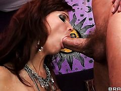 Syren De Mer is in heat in steamy oral action with Erik Everhard after bum fucking