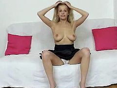 Leggy blonde beauty pervy stockings piss tunnel fetish