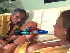 Nika Noir gets her nice young pussy toy fucked