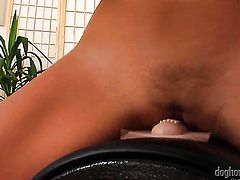 Christina Jolie opens her legs to fuck herself, take sex toy in her dripping wet honeypot