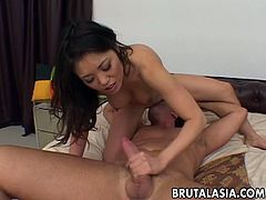 Kaiya Lynn is a super wild Asian babe and she loves to get involved into some hardcore banging with big dicked boys. She takes it into her pussy and in her tight asshole too.