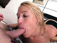 Mellanie Monroe with huge hooters is on the way to orgasm with hard worm fucking her honeypot