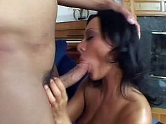 This slut knows her boyfriend loves to fuck her in the ass, so she pleasures him by spreading her legs wide and taking his boner deep in her ass.