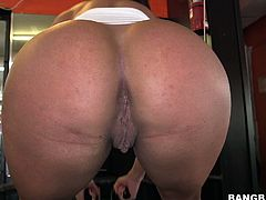 Look at this amazing latina babe, man! At her white teeth, sunturnt ass and beautiful tits. Wanna jerk off on her? Then watch this Band Bros Network movie!