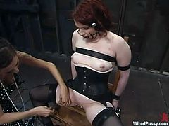 There's some pretty kinky action going on in this lesbian BDSM video that includes extreme bondage and torture.