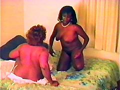 Just look at this chubby ebony milfs. They are so bored, as their men don't have time for them! So, they find a solution. It's a lesbian threesome.